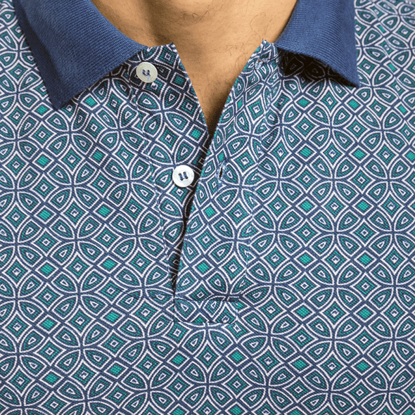 Full-Print Short-Sleeve POLO