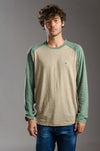 Long Sleeve Color Raglan Tee shirt تيشيرت باكمام طويله - Dockland