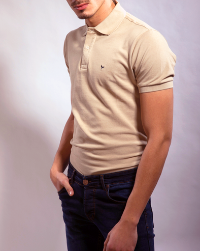 Plain Short-Sleeve Polo