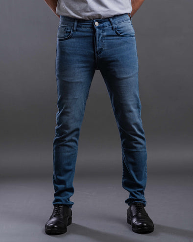 Washed slim fitted jeans-Light wash - Dockland