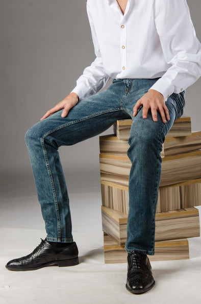 Basic slim fit jeans-Medium Wash - Dockland