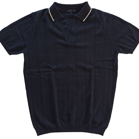 Classic Fit Knit V-Neck Polo Shirt قميص بولو تريكو - Dockland