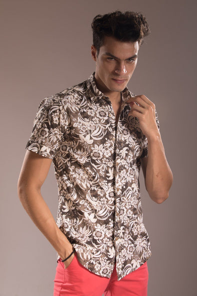 Jacquard Short Sleeve Shirt
