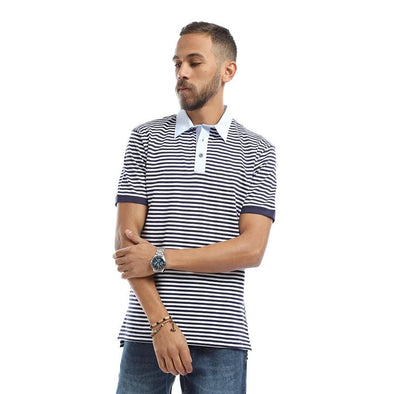 Polo-Short-Sleeve-Striped - Dockland