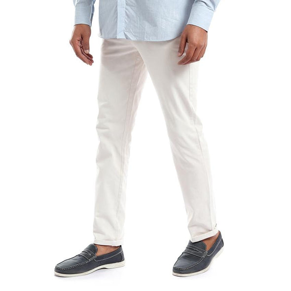 Chino Fly Zip pants بنطلون تشينو سادة - Dockland