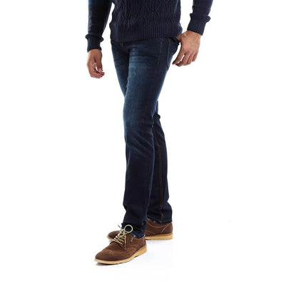 Slim Fit Casual Jeans - Dark Blue Jeans - Dockland