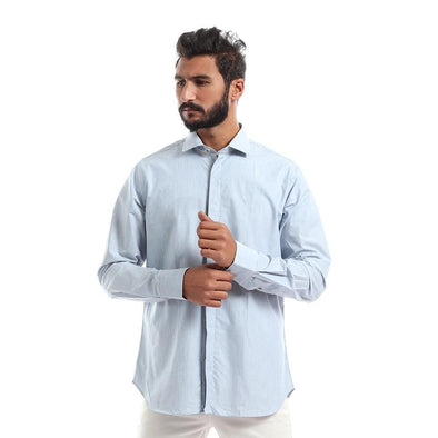 Long Sleeves Solid Shirt - Sky Blue - Dockland