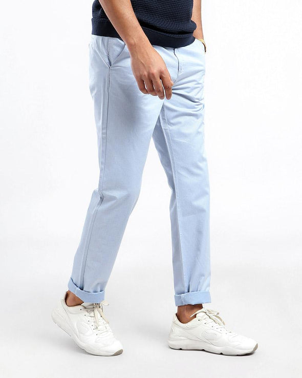 Men'S Plain Slim Fit Chino  بنطلون تشينو سادة - Dockland