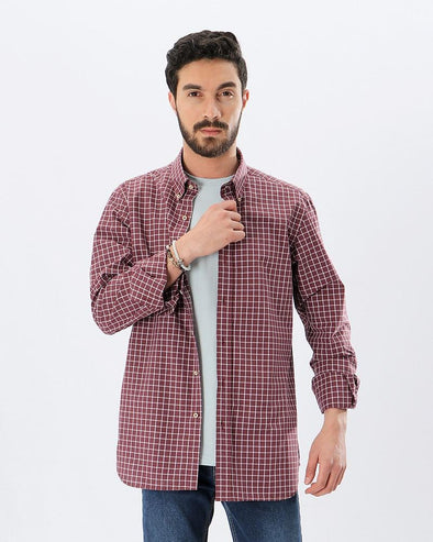 Plaid-Check Long Sleeve Shirt