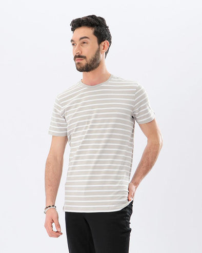 Short Sleeves Crew-neck Striped T-shirt - Dockland