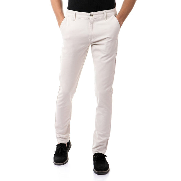 Chino Fly Zip Slim Pants - Dockland