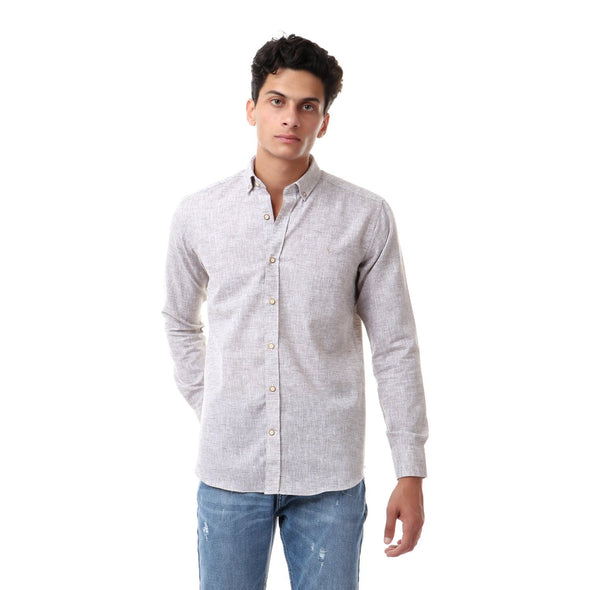 Heather Buttoned Long Sleeves Shirt - Dockland