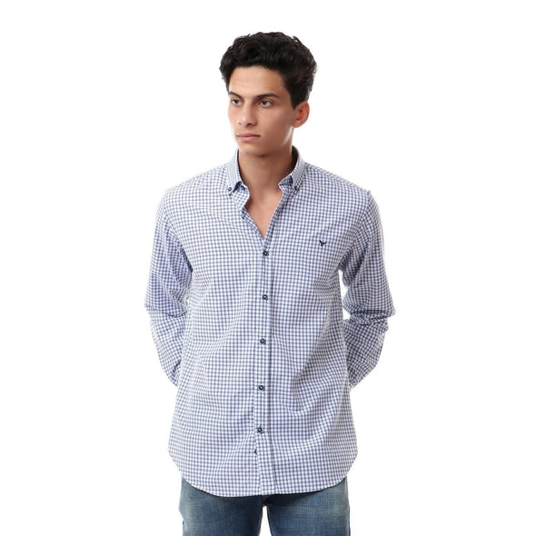 Checkered Buttoned Long Sleeves Shirt - Dockland