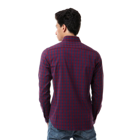Plaids Buttoned Long Sleeves Shirt - Dockland
