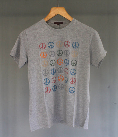 Classic Fit Cotton Round Neck Graphic Peace T-Shirt تي شرت مطبوع - Dockland