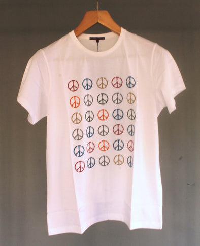 Classic Fit Crew Neck Graphic Peace T-Shirt تي شرت مطبوع - Dockland