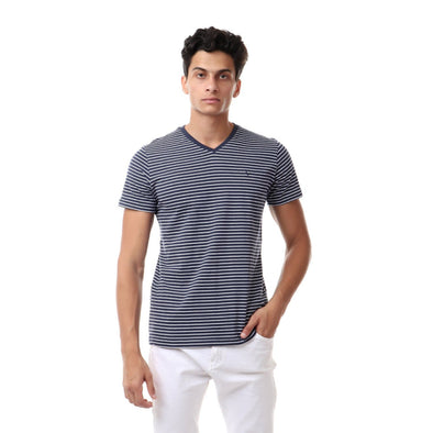Casual Striped Vshirt - Dockland