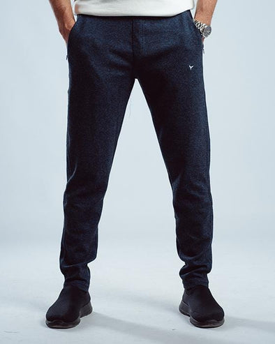 Textured sweatpants-Navy