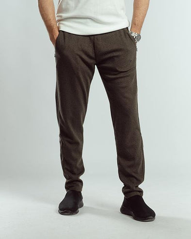 Textured sweatpants-olive