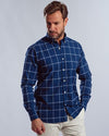 Plaid Shirt with Long Sleeves-Dark Indego
