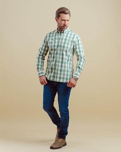 CHECKERED LONG SLEEVES SHIRT-Dockland