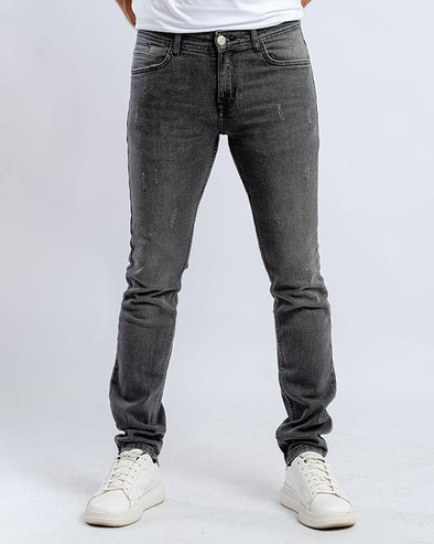 Washed slim fitted jeans-Dark grey - Dockland