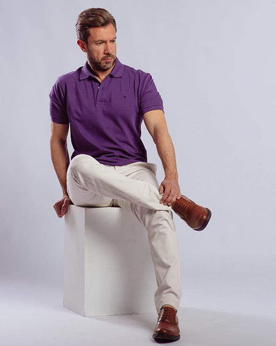 Classic Fit Polo Shirt-Grape - Dockland
