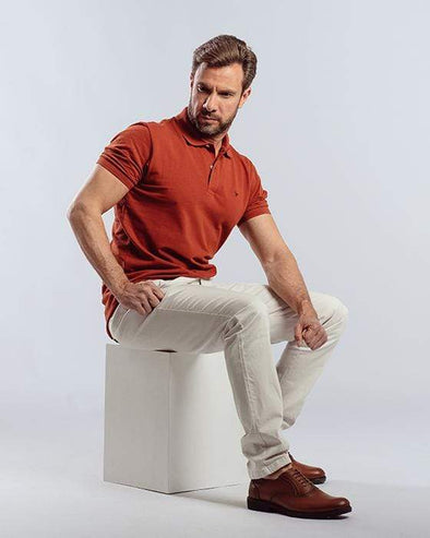 Classic Fit Polo Shir-HAVANE - Dockland
