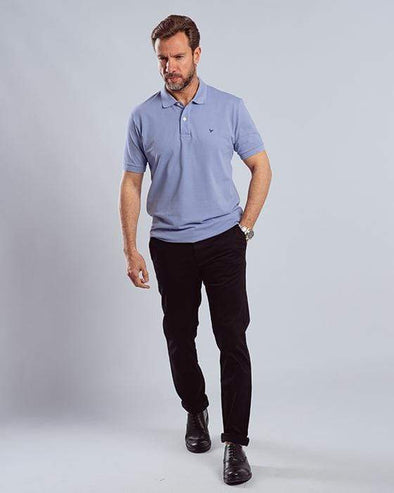Classic Fit Polo Shirt-Lavender - Dockland