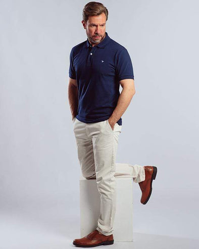 Classic Fit Polo Shirt-Navy - Dockland