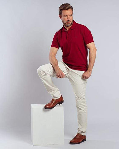 Classic Fit Polo Shir-RIO RED - Dockland