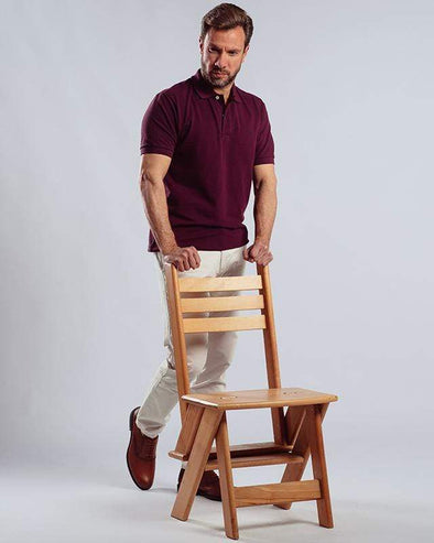 Classic Fit Polo Shir-WINE - Dockland