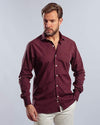 Plain long sleeve shirt-WINE - Dockland