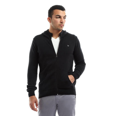Plain Zipped Pullover