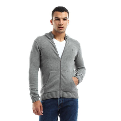Zip Up Hoodie Knitted Cardigan-Chanee - Dockland