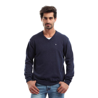 Basic V-Neck Wool Sweater - Dockland