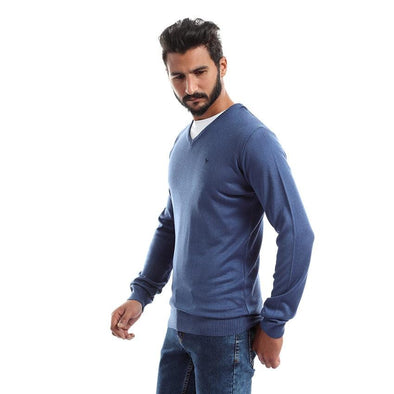 V-Neck Plain Sweater-Indego - Dockland