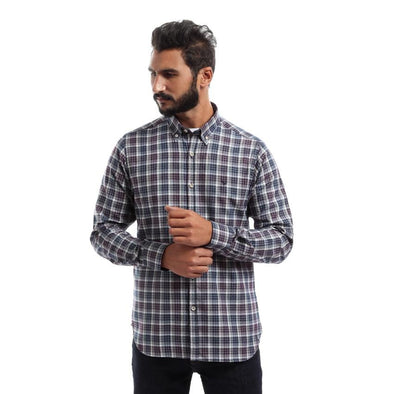 Mini Check Long Sleeve Shirt - Dockland