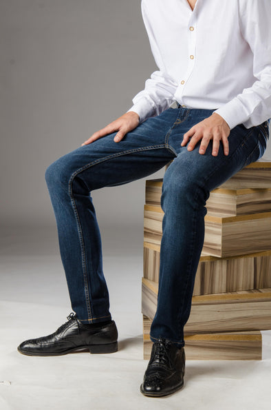 Slim Fit Jeans- Dark Wash - Dockland