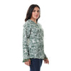 Buttoned Tassel Trim Long Sleeves Shirt - Dark Green & White - Dockland