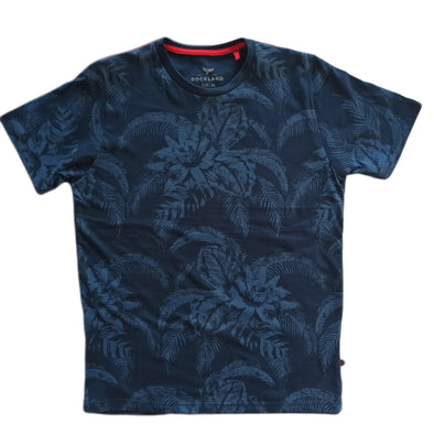 Short Sleeve Crew Neck Patterned  T-Shirt - Dockland