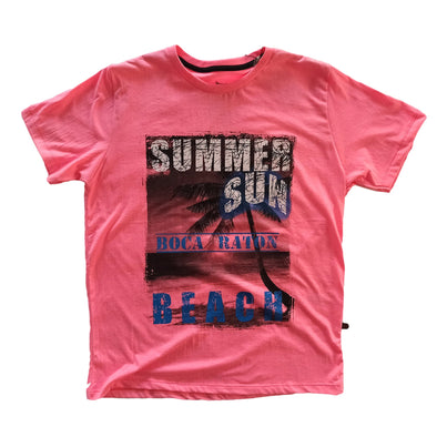 Short Sleeve Graphic Summer Sun Print T-Shirt - Dockland