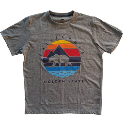 Short Sleeve Graphic California Print T-Shirt - Dockland