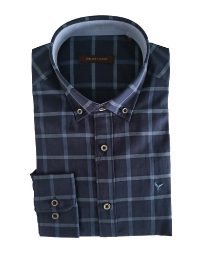 Long Sleeve Checkered Shirt - Dockland