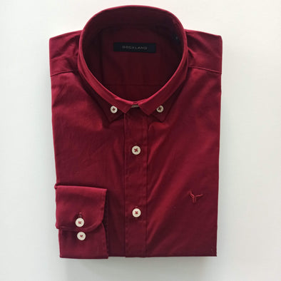 Plain Long Sleeve Shirt -Wine قميص دوكلاند ساده - Dockland