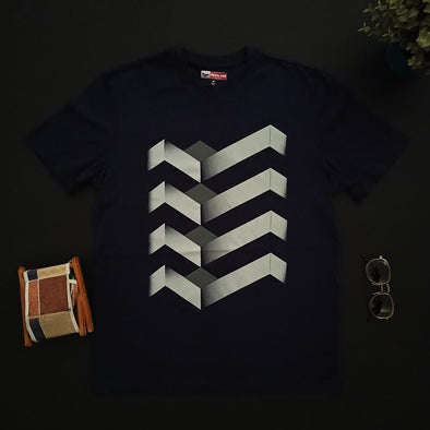 Infinite Isometric Crew neck Printed T-shirt  تى شيرت مطبوع نص كم - Dockland