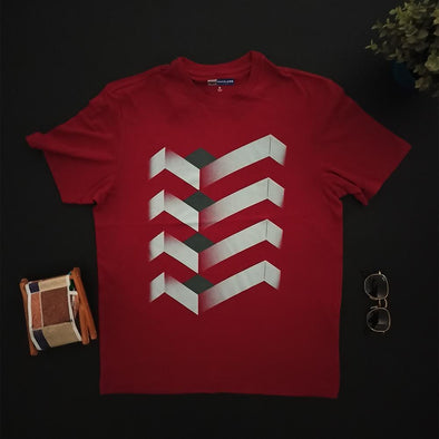 Infinite Isometric Printed Crew neck Printed T-shirt تى شيرت مطبوع نص كم - Dockland