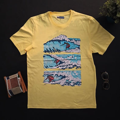 Crew neck Printed T-shirt تى شيرت  نصف كم مطبوع - Dockland