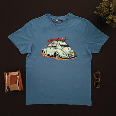 Volkswagen Vintage Crew neck Printed T-shirt  تي شيرت نص كم مطبوع - Dockland