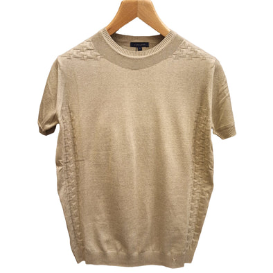 Fine Knit Crew Neck T-shirt. تي شيرت تريكو - Dockland